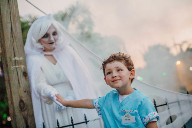 child and ghoul at zootampa creatures of the night