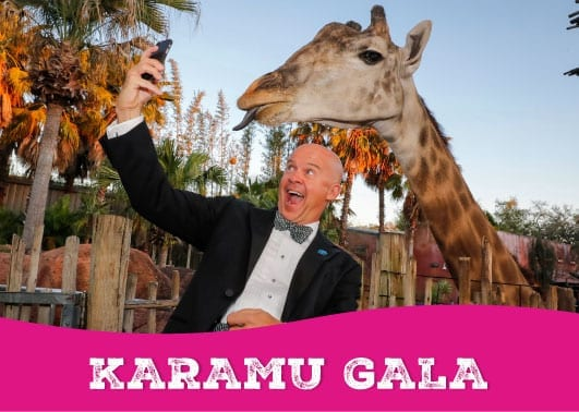 karamu gala gentleman with giraffe at zootampa