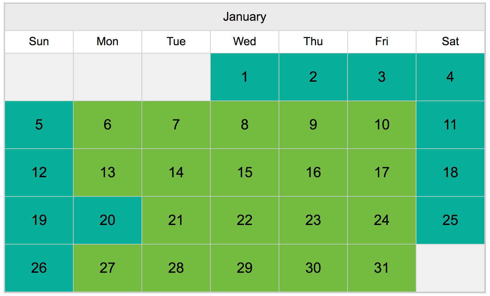 A calendar that shows pricing for Signature Encounters at ZooTampa on each day