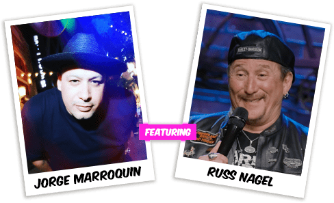 Comedy show headliners Jorge Marroquin and Russ Nagel