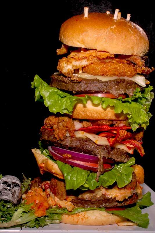 Massive monster burger