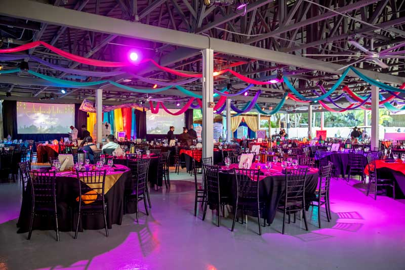 Private event at the covered event pavilion